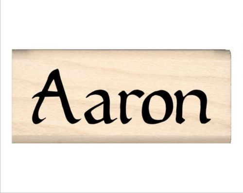 Aaron Name Rubber Stamp
