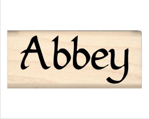 Abbey Name Rubber Stamp
