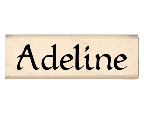 Adeline Name Rubber Stamp