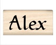 Alex Name Rubber Stamp