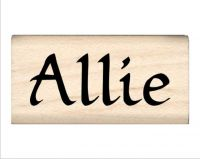 Allie Name Rubber Stamp