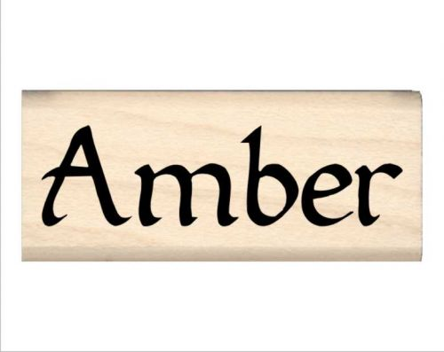 Amber Name Rubber Stamp