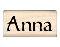 Anna Name Rubber Stamp