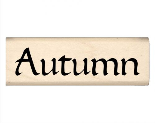 Autumn Name Rubber Stamp