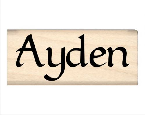 Ayden Name Rubber Stamp