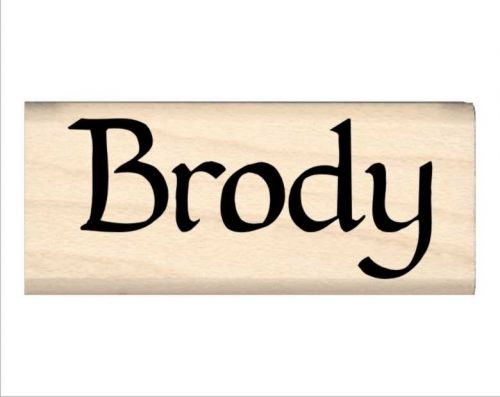 Brody Name Rubber Stamp