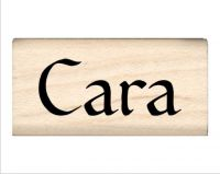 Cara Name Rubber Stamp
