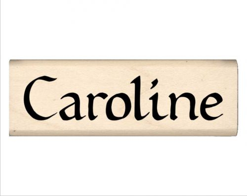 Caroline Name Rubber Stamp