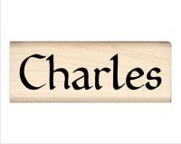 Charles Name Rubber Stamp