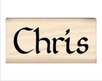 Chris Name Rubber Stamp