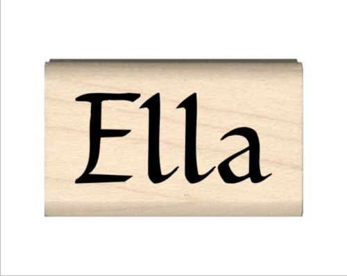 Ella Name Rubber Stamp