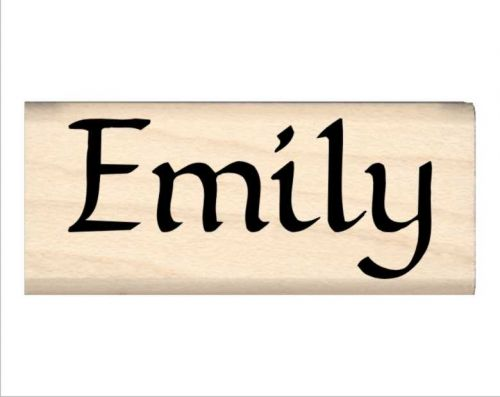 Emily Name Rubber Stamp