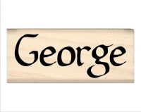 George Name Rubber Stamp