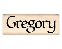 Gregory Name Rubber Stamp