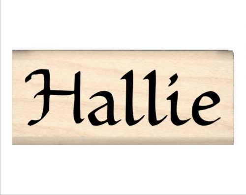 Hallie Name Rubber Stamp