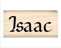 Isaac Name Rubber Stamp