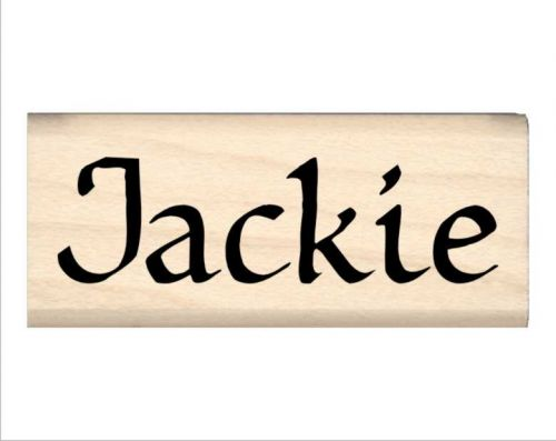 Jackie Name Rubber Stamp