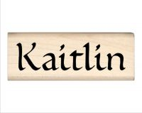 Kaitlin Name Rubber Stamp