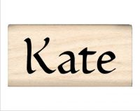 Kate Name Rubber Stamp