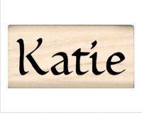 Katie Name Rubber Stamp