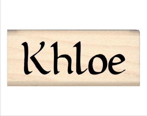 Khloe Name Rubber Stamp