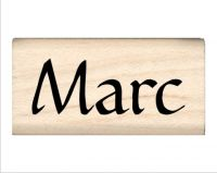 Marc Name Rubber Stamp