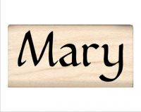 Mary Name Rubber Stamp