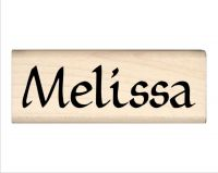 Melissa Name Rubber Stamp