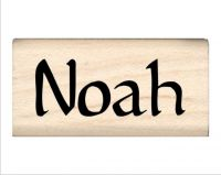 Noah Name Rubber Stamp