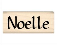 Noelle Name Rubber Stamp
