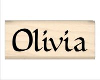 Olivia Name Rubber Stamp