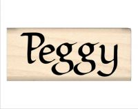 Peggy Name Rubber Stamp