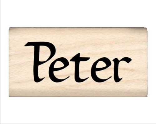Peter Name Rubber Stamp
