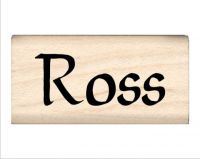 Ross Name Rubber Stamp