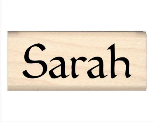 Sarah Name Rubber Stamp