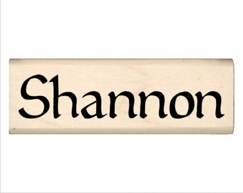 Shannon Name Rubber Stamp