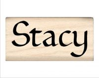 Stacy Name Rubber Stamp