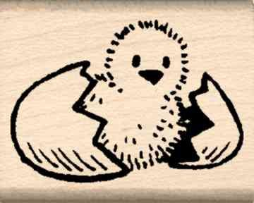 Chick Rubber Stamp