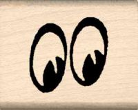 Eyes Rubber Stamp