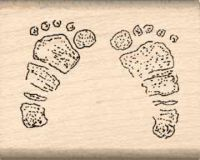 Baby Feet Rubber Stamp