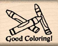 Good Coloring Rubber Stamp