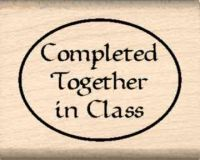 Completed Together in Class Teacher Rubber Stamp
