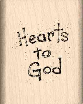 Hearts to God Rubber Stamp