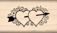 Hearts Rubber Stamp