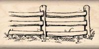 Fence Rubber Stamp