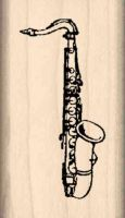 Saxaphone Rubber Stamp