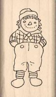 Rag Doll Boy Rubber Stamp