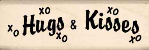 Hugs & Kisses Rubber Stamp