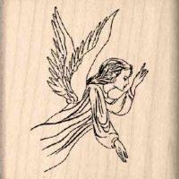 Angel Rubber Stamp
