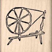 Spinning Wheel Rubber Stamp